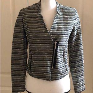 🍁MOSSIMO - Striped Moto Jacket - Size 6
